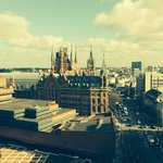 Great view over St Pancras from 11th floor lobby.