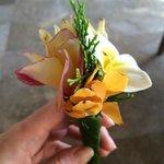 welcome flower arrangement