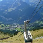 Views of the cableway on the way up from Wengen