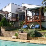 View of tywo beautiful suites across swimming pool