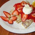 Irresistable Strawberry Blintz