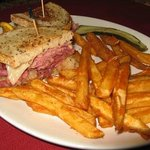 Super Ruben Sandwich and Fries