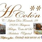 Logotipo Hostal Colon Antequera