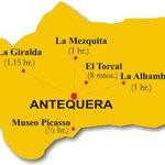 Mapa de situacion Hostal Colon Antequera
