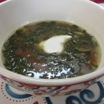 Mushroom and chaya soup
