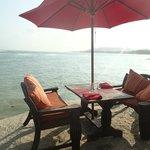 Petit déjeuner devant la mer