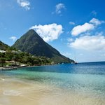 View of a Piton from Jalousie beach