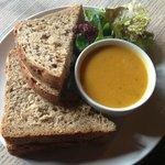 Prawn Sandwich with soup