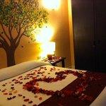 Decoración romántica.