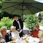 Tea service in the garden