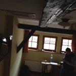 Room with tudor beams