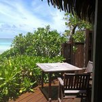 Villa 1 balcony AMAZING! COMPLETELY BEACHFRONT