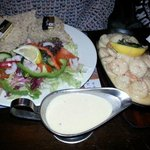 Scallops & prawn sizzler