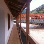 Urubamba river and the bridge from the balcony.