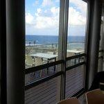 Ausblick vom Frühstücksraum aufs Mittelmeer