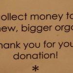 Organ donation notice