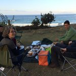 picnic in front of the ocean