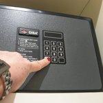Cassafirte in ns.room : ottima per custodire documenti e denaro contante