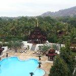Swimming pool and Mandalay Hill