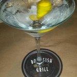 Cold Vodka Martini with a Twist