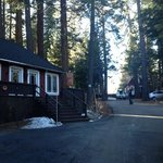 driveway up to individual cabins