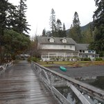 Lake Crescent Lodge from the dock