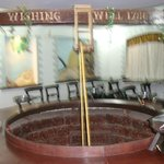 Wishing well in restaurant area