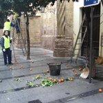 Уборка мандаринов с улиц Кордовы