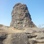 Reminds me of a shiv ling....this natural formation is at the summit of the trek....
