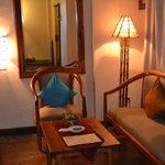 Sitting area in suite