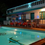 Poolside at night...