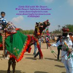 Kids freindly camel ride with Mr. Desert at Desert Safariors Camps