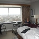 Executive Room on the 24th floor facing Knightsbridge and Battersey.