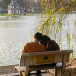 As romantic as it gets; by an inner city lake