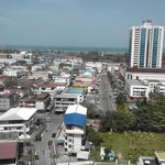 Miri-view from Rooftop Restaurant Bar