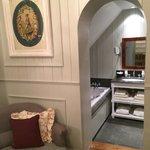 Beautiful arched bathroom doorway