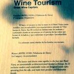Turismo enológico distinción
