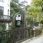 Famous Cliff Railway to Lynmouth nearby