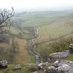 View from top of Malham Cove