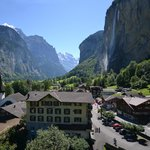 Our hotel and Lauterbrunnen valley