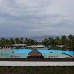 Lagoon pool overlooking ocean