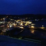 night time view of Saundersfoot
