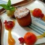 dessert à l'abricot