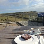 Coffee and cake with a view