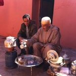 mint tea with Berber old man
