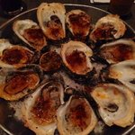 Caracol's griled oysters, pretty dry