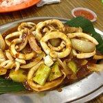 Hav u ever see cucumber in sambal sotong?!?!?