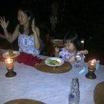 Our Guest Enjoy Dinner in Cafe Wayan Ubud