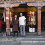 With our outstanding Buthanese guide Mr. Tashi Wang at the prayer wheels in Timphu