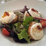 Goat cheese salad starter